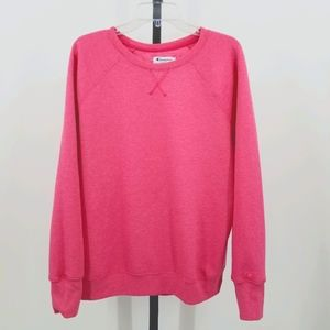 Champion Pink Crew Neck Embroidered Sweat Shirt